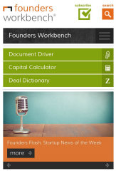 image of Goodwin Procter LLP and One North Interactive Wins 2015 Best Legal Mobile Website Mobile WebAward for Founders Workbench Mobile Site