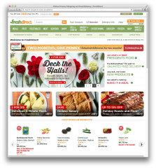 image of FreshDirect Wins 2015 Best Food Industry Mobile Website Mobile WebAward for FreshDirect Desktop Website