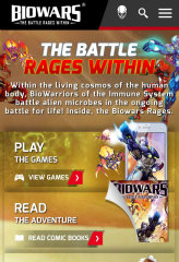 image of Blue Fountain Media Wins 2015 Best Game Site Mobile Website Mobile WebAward for Biowars Mobile Website