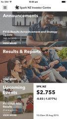 image of Spark New Zealand & Sush Mobile Wins 2015 Best Investor Relations Mobile Application Mobile WebAward for Spark New Zealand & Sush Mobile