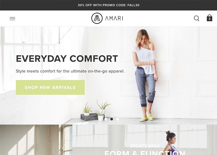 image of Cuker Wins 2016 Best Fashion or Beauty Mobile Website Mobile WebAward for Amari Responsive eCommerce Website