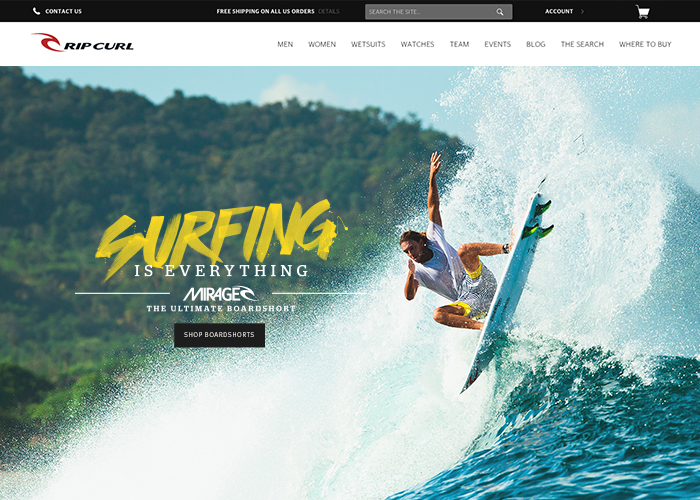 image of Cuker Wins 2016 Best Shopping Mobile Website Mobile WebAward for Rip Curl Responsive eCommerce Website