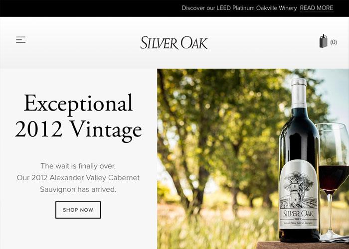 image of Cuker Wins 2016 Best Beverage Mobile Website Mobile WebAward for Silver Oak Responsive eCommerce Website