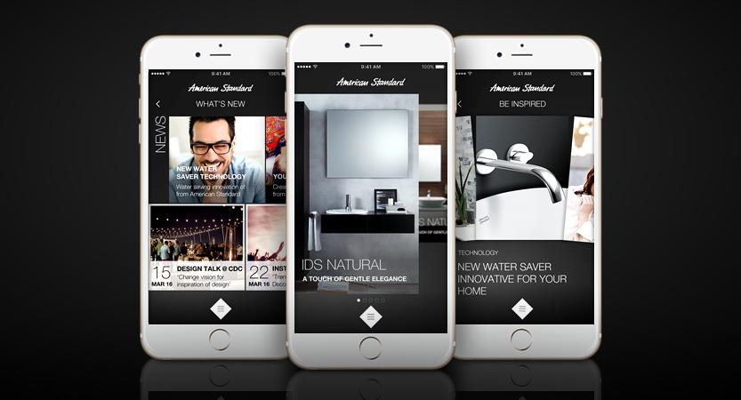 image of LIXIL (Thailand) / Mirum Thailand Wins 2016 Best Catalog Mobile Application Mobile WebAward for American Standard Mobile Application