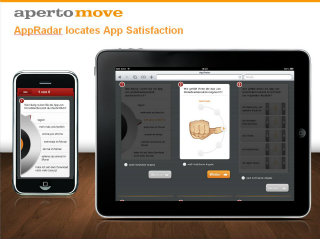 image of Aperto Move / Mindline Wins 2012 Best Consulting Mobile Website Mobile WebAward for AppRadar locates App Satisfaction