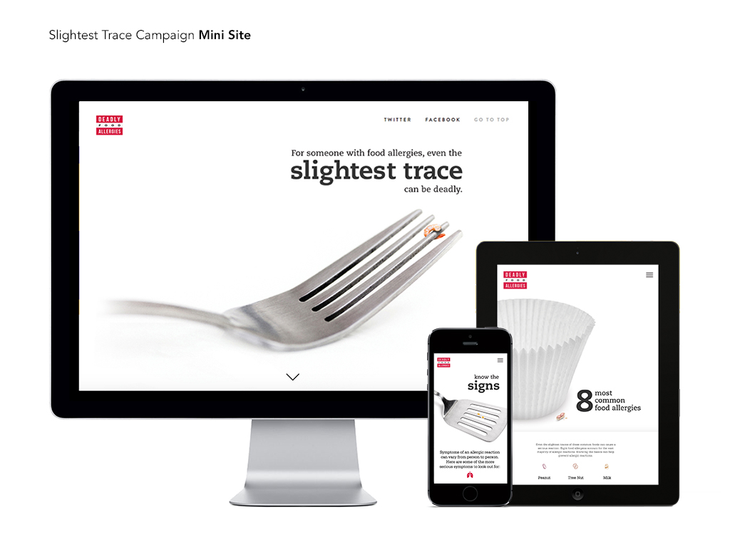 image of Patients & Purpose Wins 2017 Best Design Mobile Website, Best Non-Profit Mobile Website Mobile WebAward for Even a Trace Can Be Deadly Campaign