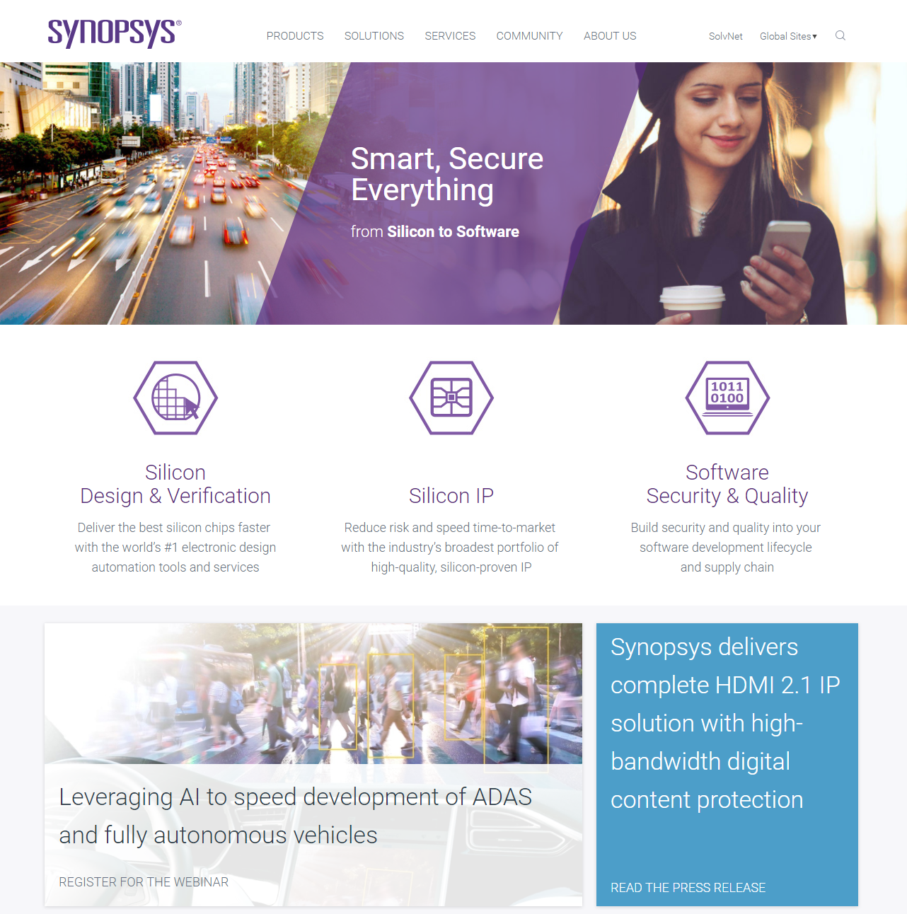 image of Synopsys Digital Marketing Team Wins 2017 Best Electronics Mobile Website Mobile WebAward for Synopsys.com