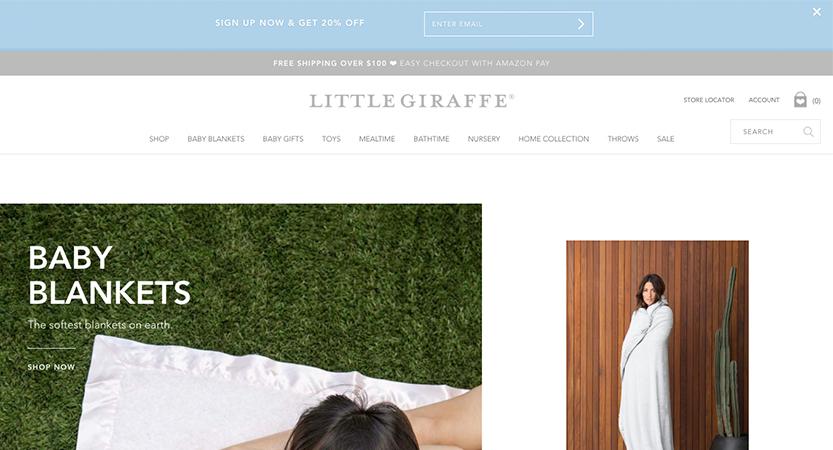 image of Cuker Wins 2017 Best Shopping Mobile Website Mobile WebAward for Little Giraffe Responsive eCommerce Website