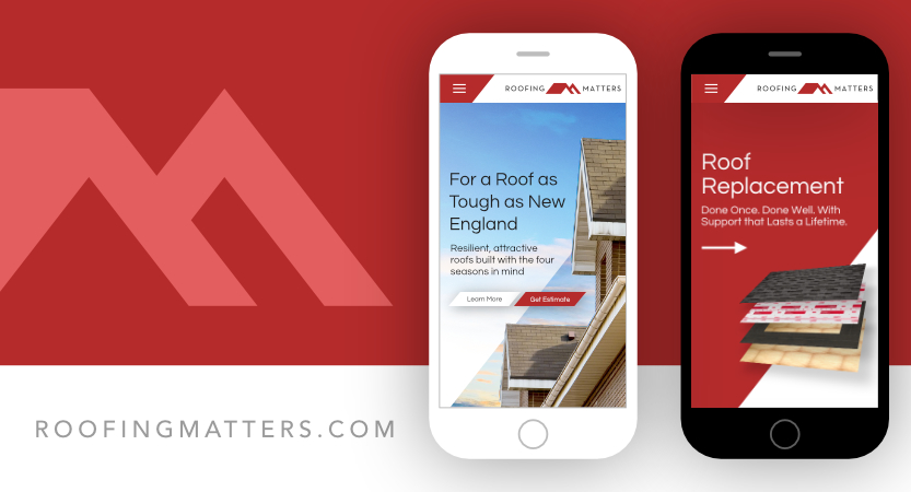 image of ONE MARK Wins 2018 Best Construction Mobile Website Mobile WebAward for Roofing Matters