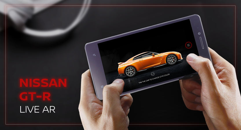 image of Nissan Motor (Thailand) / Mirum Thailand Wins 2018 Best Automobile Mobile Application Mobile WebAward for Nissan GT-R LIVE AR Mobile Application