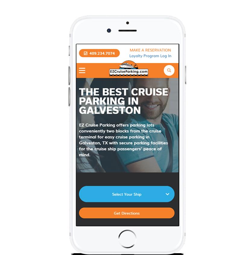 image of TopSpot Internet Marketing Wins 2018 Best Leisure Mobile Website Mobile WebAward for EZ Cruise Parking Website