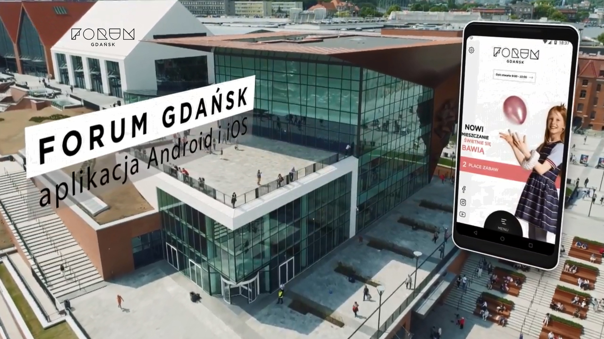 image of Forum Gdansk | Amistad Sp z o.o. Wins 2018 Best Shopping Mobile Application Mobile WebAward for Forum Gdansk - mobile app