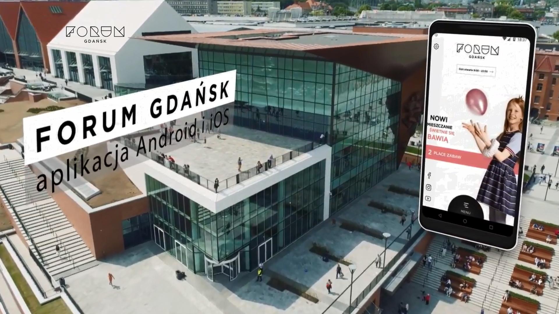 image of Forum Gdansk | Amistad Sp z o.o. Wins 2018 Best Shopping Mobile Application Mobile WebAward for Forum Gdansk - mobile app