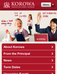 image of Brightlabs Wins 2012 Best School Mobile Website Mobile WebAward for Korowa