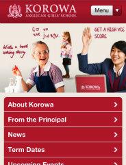 image of Brightlabs Wins 2012 Best School Mobile Website Mobile WebAward for Korowa