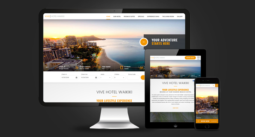 image of Milestone Inc. Wins 2018 Best Hotel and Lodging Mobile Website, Best of Show Mobile Website Mobile WebAward for VIVE Hotel Waikiki