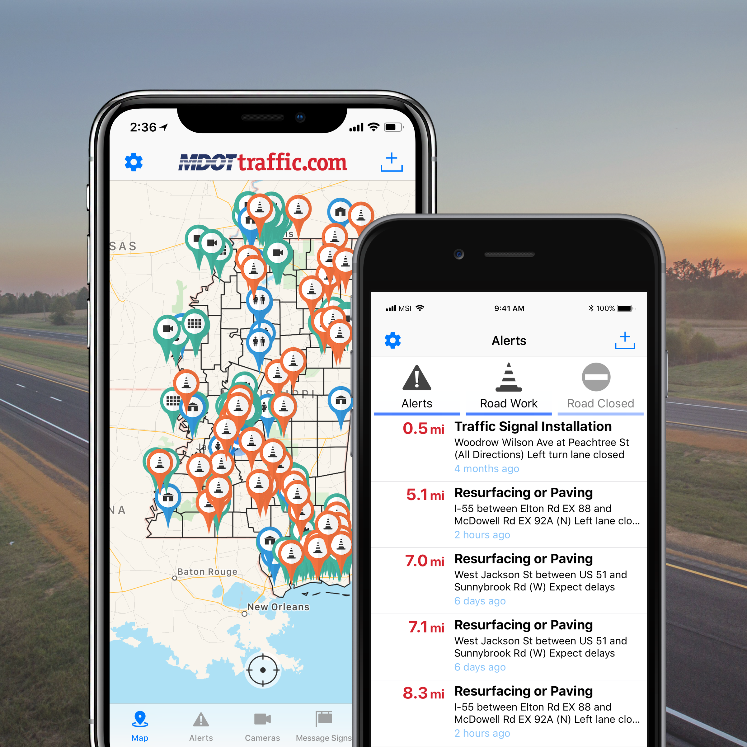image of MS Department of Transportation  Wins 2018 Outstanding Mobile Application Mobile WebAward for MDOT Traffic Mobile App
