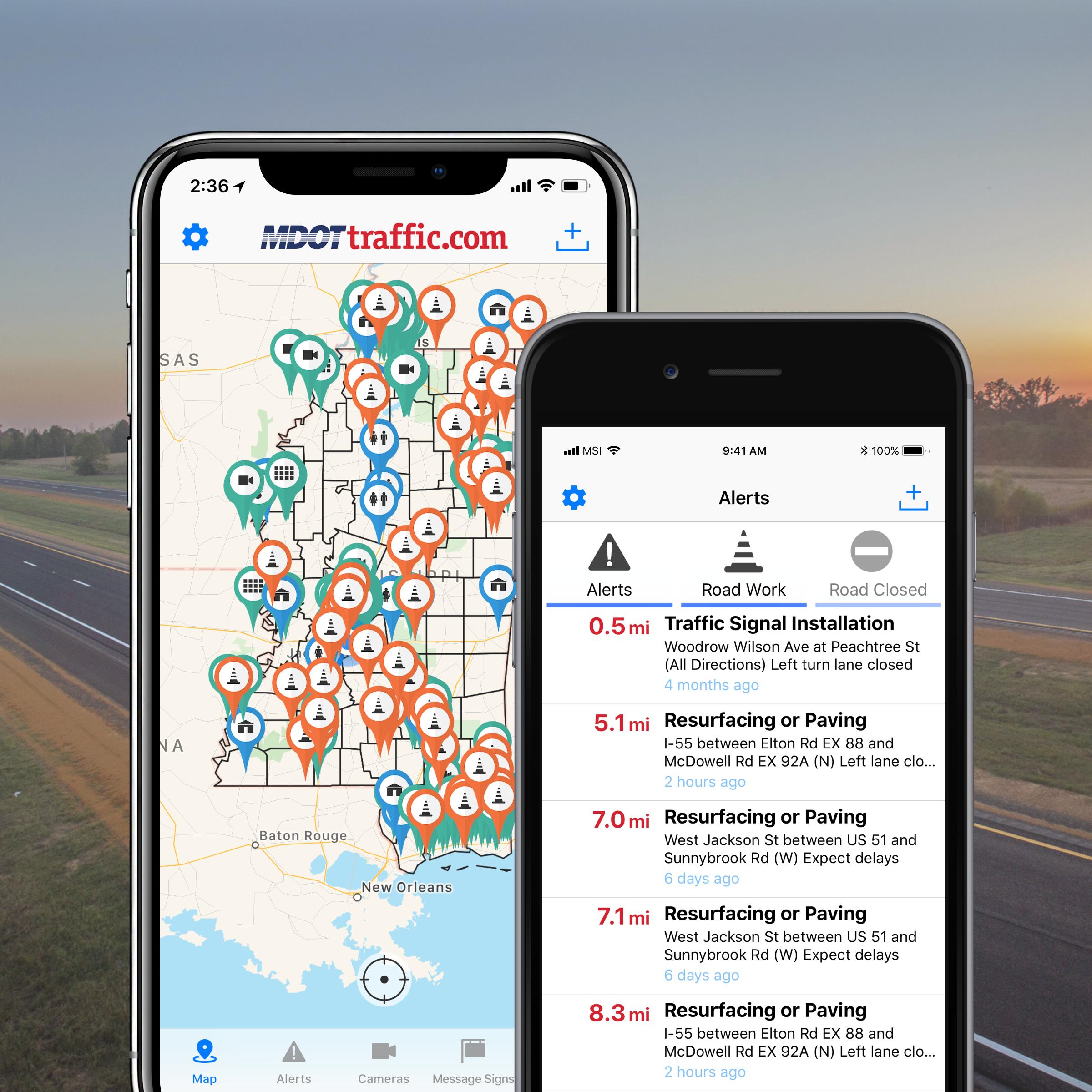 image of MS Department of Transportation  Wins 2018 Outstanding Mobile Application Mobile WebAward for MDOT Traffic Mobile App