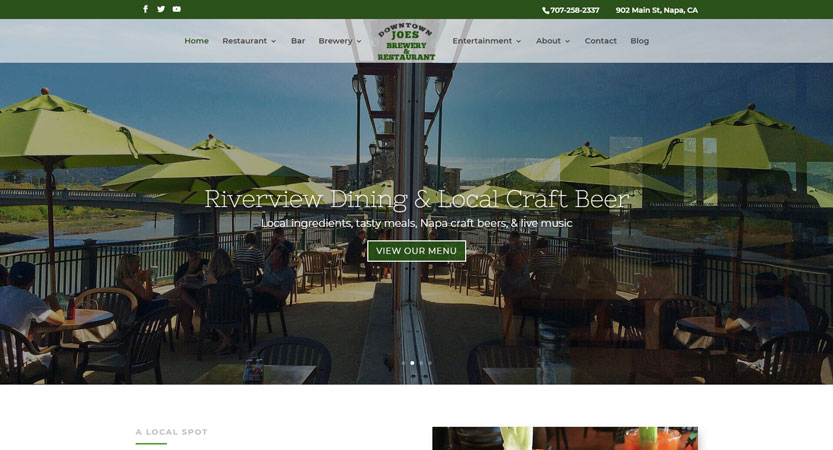 image of WSI Wins 2019 Best Restaurant Mobile Website Mobile WebAward for Downtown Joe's Brewery and Restaurant
