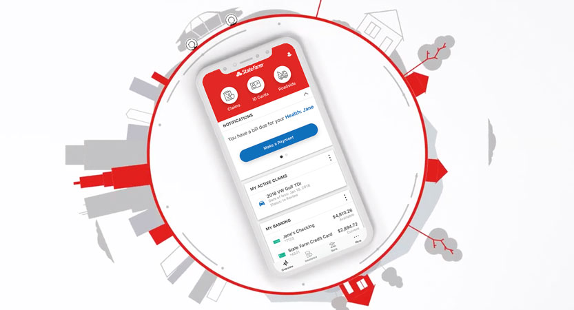 image of State Farm Mobile App 2019 Wins 2019 Best Bank Mobile Application, Best Mobile Industry Mobile Application Mobile WebAward for State Farm Mobile App 2019