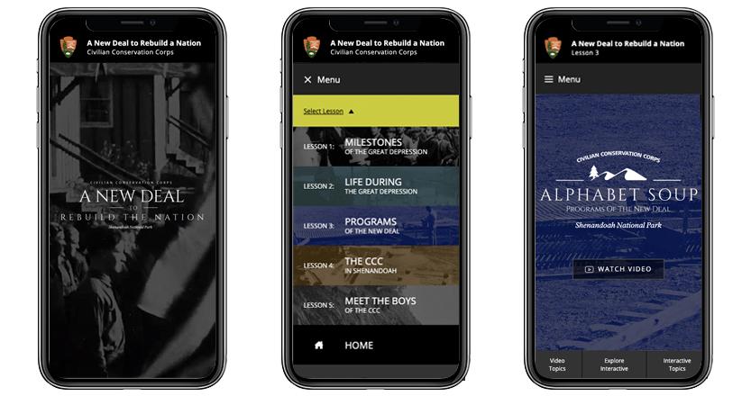 image of Alexander & Tom, Inc. Wins 2019 Best Education Mobile Website Mobile WebAward for Shenandoah National Park - A New Deal to Rebuild a Nation