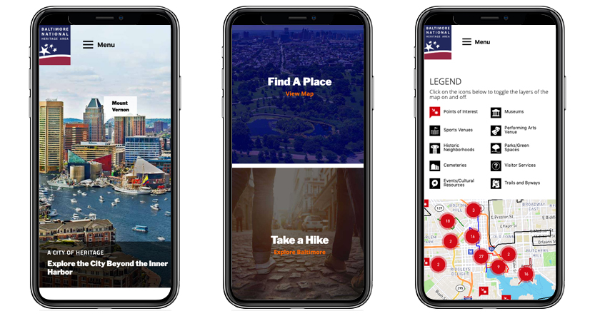 image of Alexander & Tom, Inc. Wins 2019 Best Non-Profit Mobile Website Mobile WebAward for Explore Baltimore