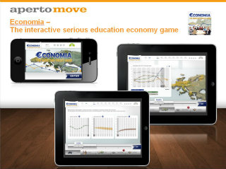 image of Aperto Move / Aperto AG Wins 2012 Best Credit Union Mobile Application Mobile WebAward for Economia - The interactive serious education economy game