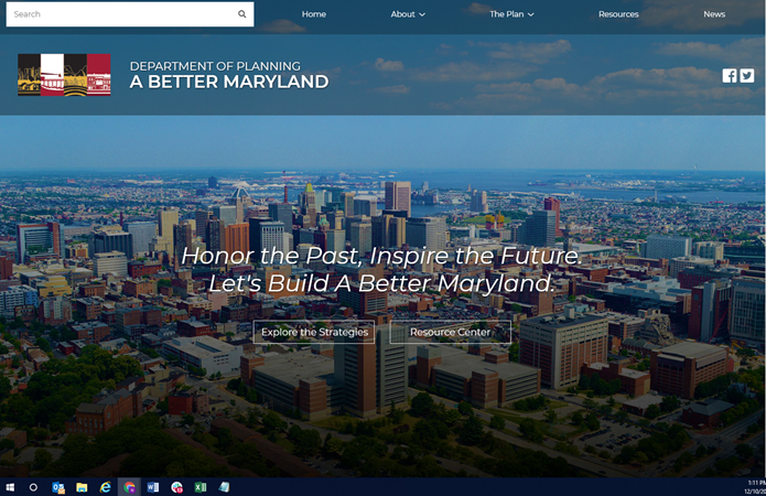 image of Maryland Department of Planning Wins 2019 Best Government Mobile Website, Best Mobile Industry Mobile Website, Best of Show Mobile Website Mobile WebAward for A Better Maryland Interactive Web Site