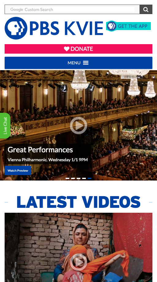 image of Capitol Tech Solutions Wins 2019 Best Broadcasting Mobile Website Mobile WebAward for KVIE - PBS for Northern California