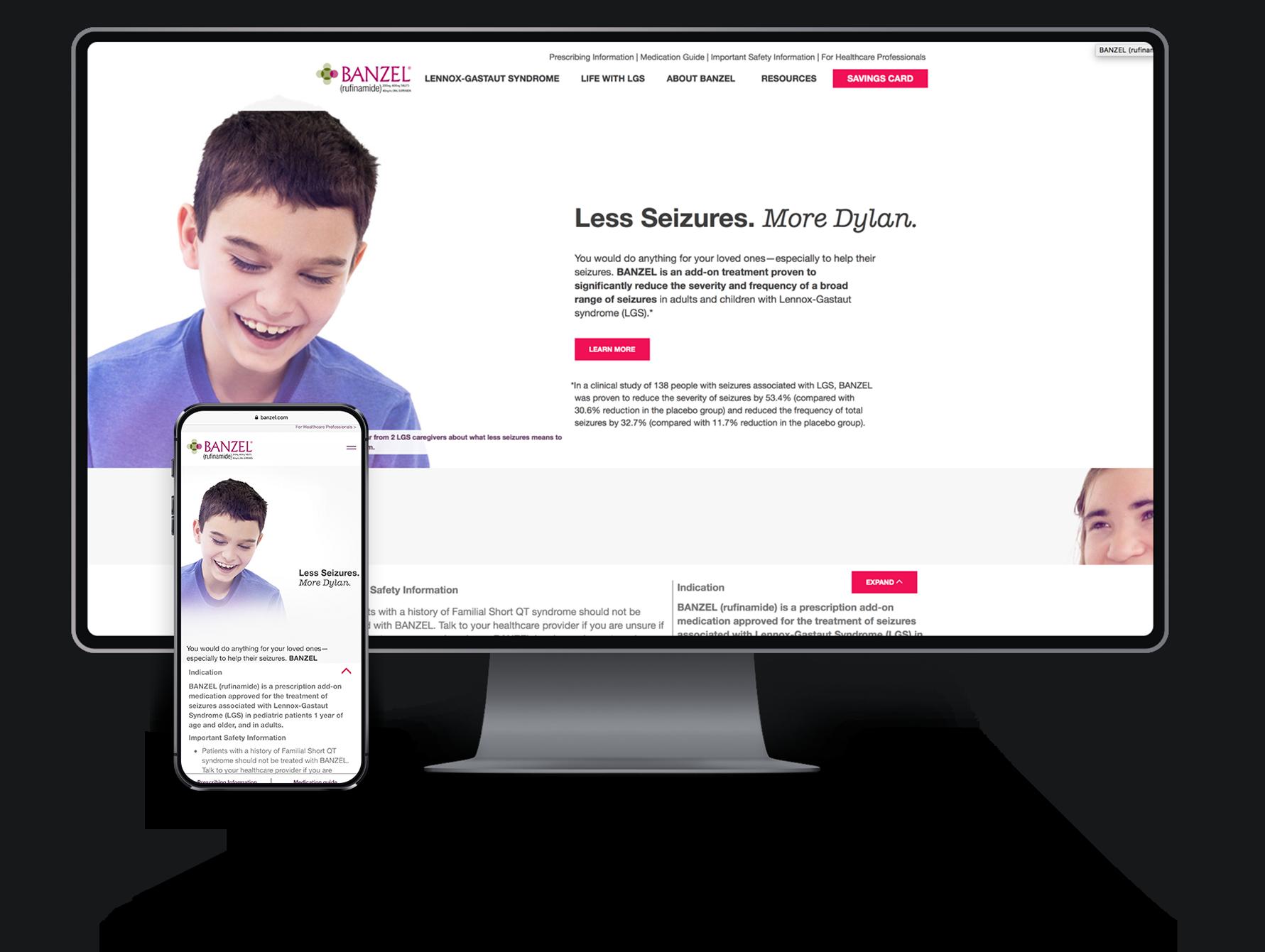 image of Patients & Purpose Wins 2019 Best Pharmaceuticals Mobile Website Mobile WebAward for Love Less Seizures