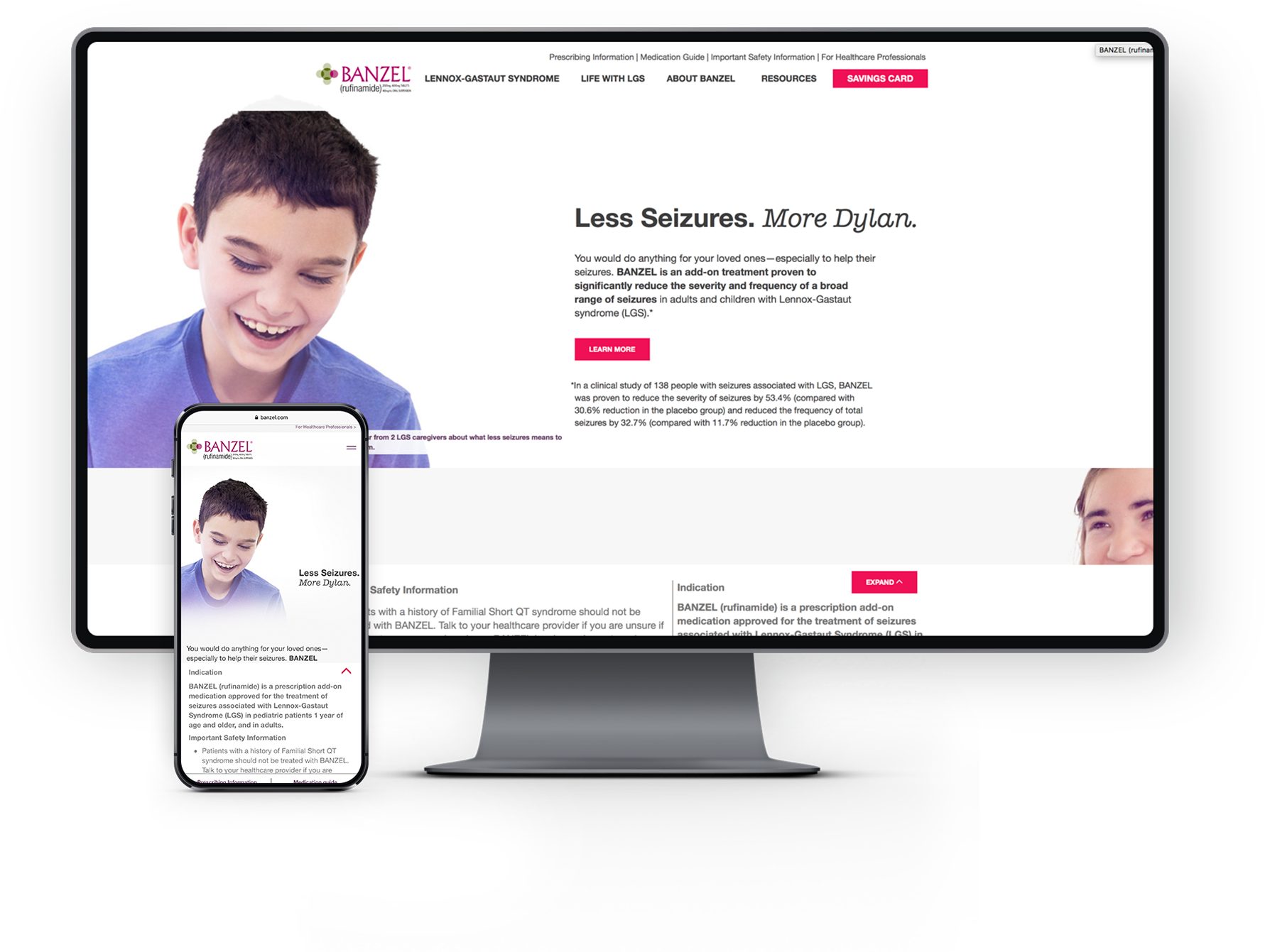 image of Patients & Purpose Wins 2019 Best Pharmaceuticals Mobile Website Mobile WebAward for Love Less Seizures
