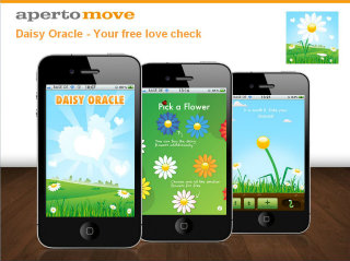 image of Aperto Move Wins 2012 Best Toy & Hobby Mobile Application Mobile WebAward for Daisy Oracle - Your free love check