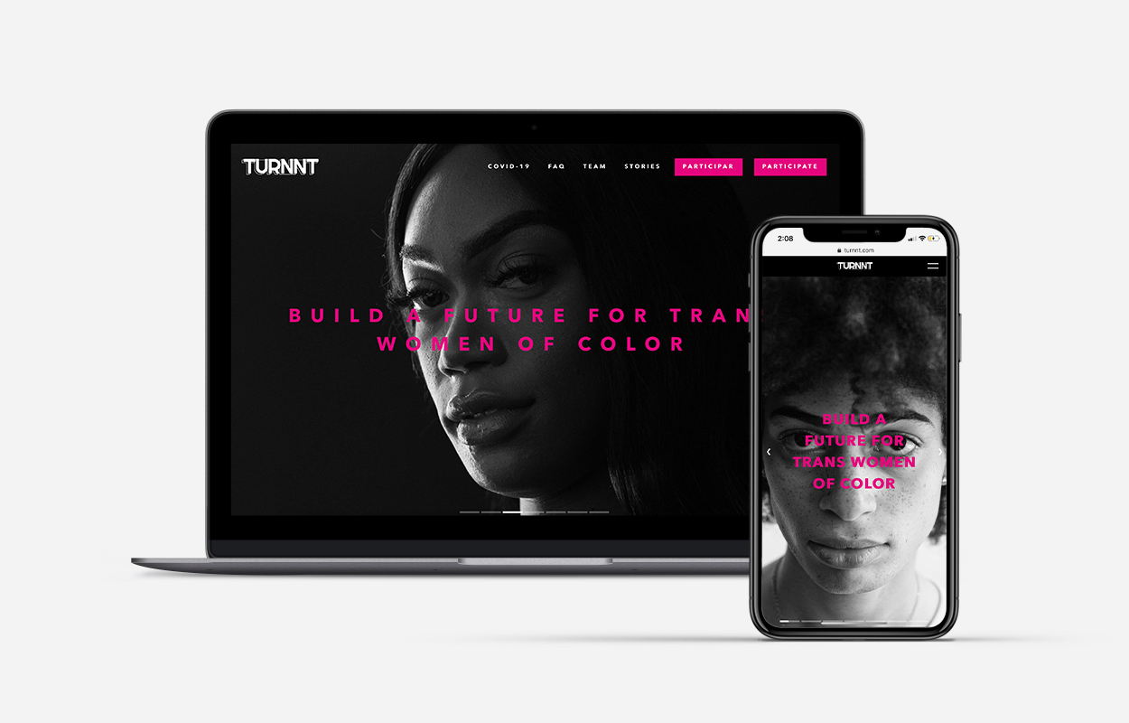 image of Patients & Purpose Wins 2020 Best LGBTQ Mobile Website, Best of Show Mobile Website Mobile WebAward for TURNNT