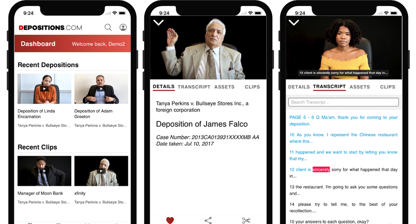 image of Starmark Wins 2020 Best Legal Mobile Application Mobile WebAward for Depositions.com