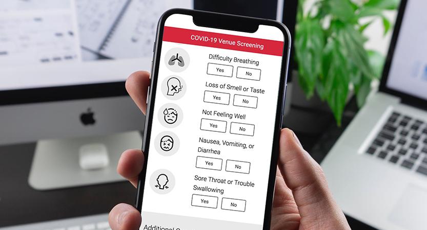 image of Glacier Digital Wins 2020 Best Application Service Provider Mobile Website, Best Diversified Business Mobile Website Mobile WebAward for COVID Screener
