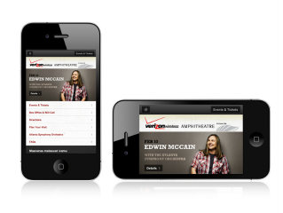 image of Red Clay Interactive Wins 2012 Best Events Mobile Website Mobile WebAward for Verizon Wireless Amphitheatre Mobile