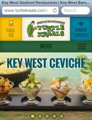 image of BlackDog Advertising Wins 2013 Best Restaurant Mobile Website Mobile WebAward for Turtle Kraals Mobile Website