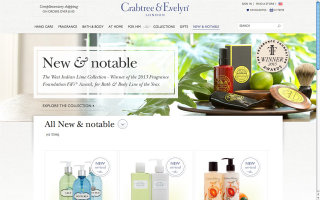 image of SapientNitro Wins 2013 Best Fashion or Beauty Mobile Website Mobile WebAward for crabtree-evelyn.com