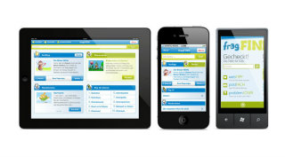 image of Aperto Group / Aperto Move Wins 2013 Best Directory or Search Engine Mobile Application Mobile WebAward for fragFinn.de - The German search engine for kids