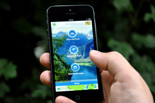 image of Bavarian State Ministry of the Environment and Consumer Protection Wins 2013 Best Transportation Mobile Application Mobile WebAward for Berchtesgaden National Park App
