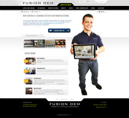 image of TopSpot Internet Marketing Wins 2013 Best Manufacturing Mobile Website Mobile WebAward for Fusion OEM Responsive Website