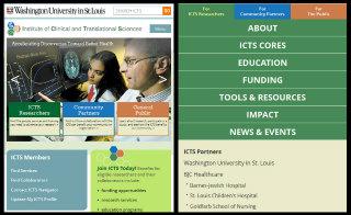 image of VIVIDSITES Wins 2013 Best Science Mobile Website Mobile WebAward for Washington University Institute of Clinical and Translational Sciences