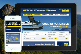 image of Lightmaker Wins 2013 Best Travel Mobile Website Mobile WebAward for Harbour Air Responsive Website