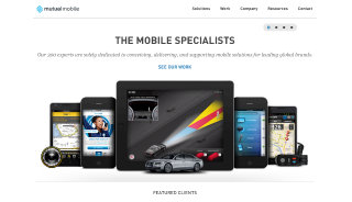 image of Mutual Mobile Wins 2013 Best Technology Mobile Website Mobile WebAward for Mutual Mobile Website