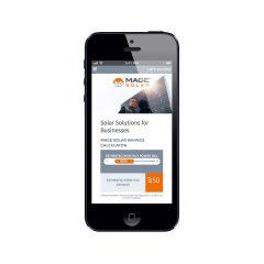image of Nebo Agency Wins 2013 Best Energy Mobile Website Mobile WebAward for MAGE SOLAR Website Redesign