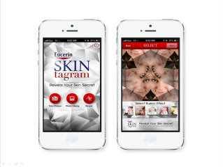 image of XM Thomas Idea  Wins 2013 Best Fashion or Beauty Mobile Application Mobile WebAward for Eucerin Skintagram