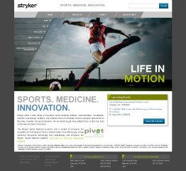 image of Stryker Digital PlatformsTeam  Wins 2014 Best Health Care Mobile Website, Best Medical Equipment Mobile Website Mobile WebAward for Stryker Sports Medicine Microsite