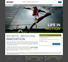 image of Stryker Digital PlatformsTeam  Wins 2014 Best Health Care Mobile Website, Best Medical Equipment Mobile Website Mobile WebAward for Stryker Sports Medicine Microsite