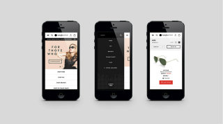 image of Critical Mass Wins 2014 Best Fashion or Beauty Mobile Website Mobile WebAward for Sunglass Hut