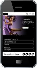 image of iMedia inc.  Wins 2014 Best Electronics Mobile Website Mobile WebAward for Sharp USA Mobile Website